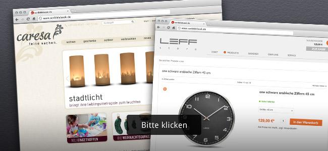 Beispielreferenzen Onlineshop-Design